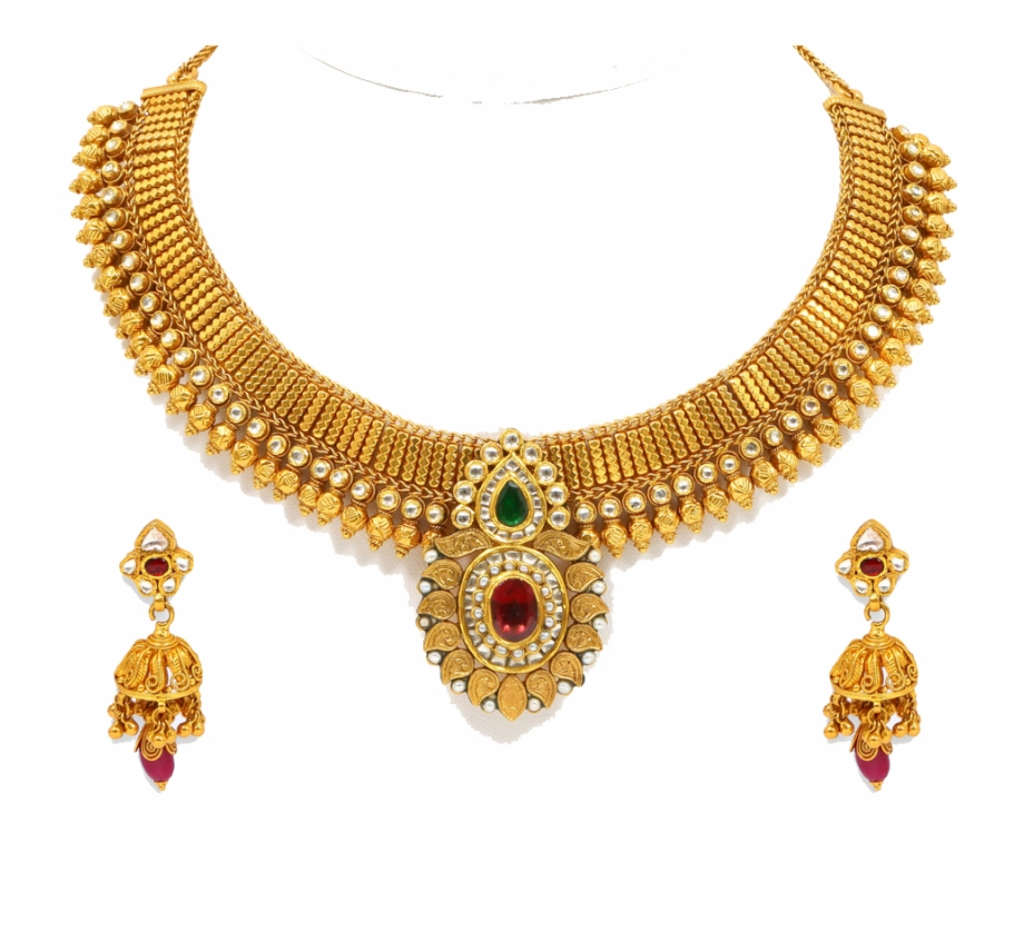 Gold Jewellery Model Png.