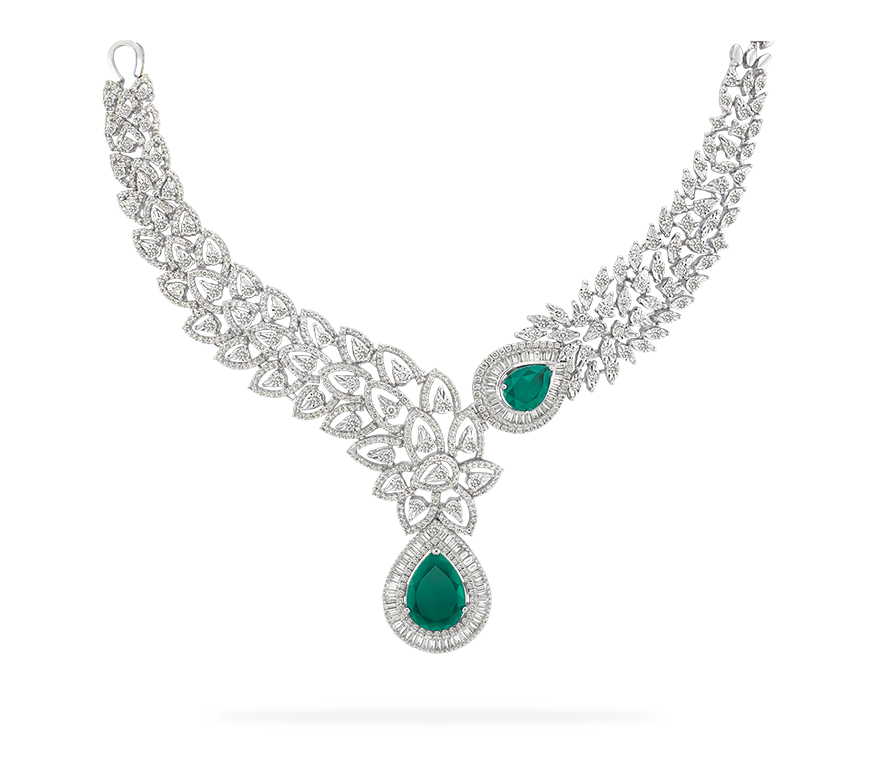 Download Diamond Necklace PNG Transparent Picture.
