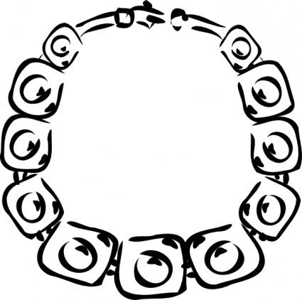 Necklace clip art free vector.