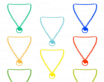 Necklace clip art.