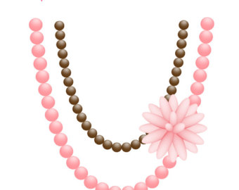 Pearl Necklace Clipart.