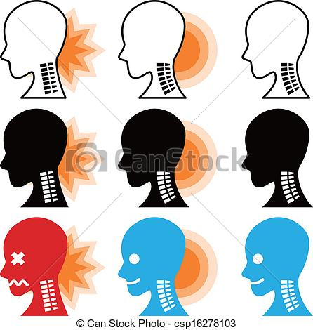 Vector Clipart of Neck pain csp16278103.