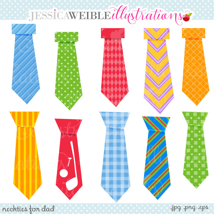 Fathers Day Necktie Clipart.
