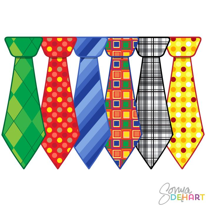 Fathers Day Ties Clipart.