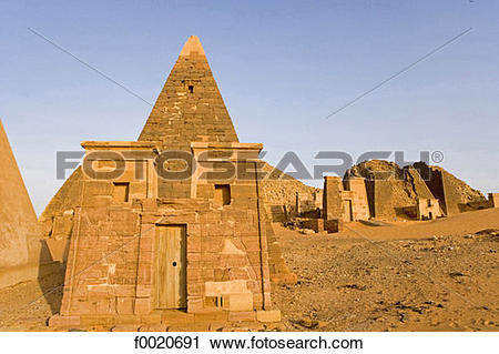 Stock Photography of Sudan, Merowe necropolis f0020691.