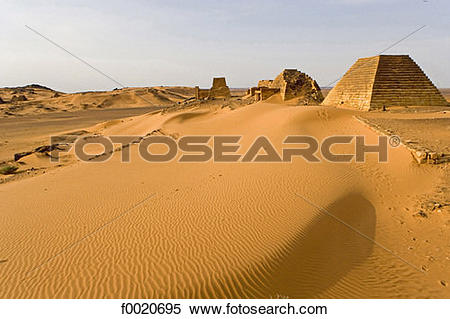 Stock Image of Sudan, Merowe necropolis f0020695.
