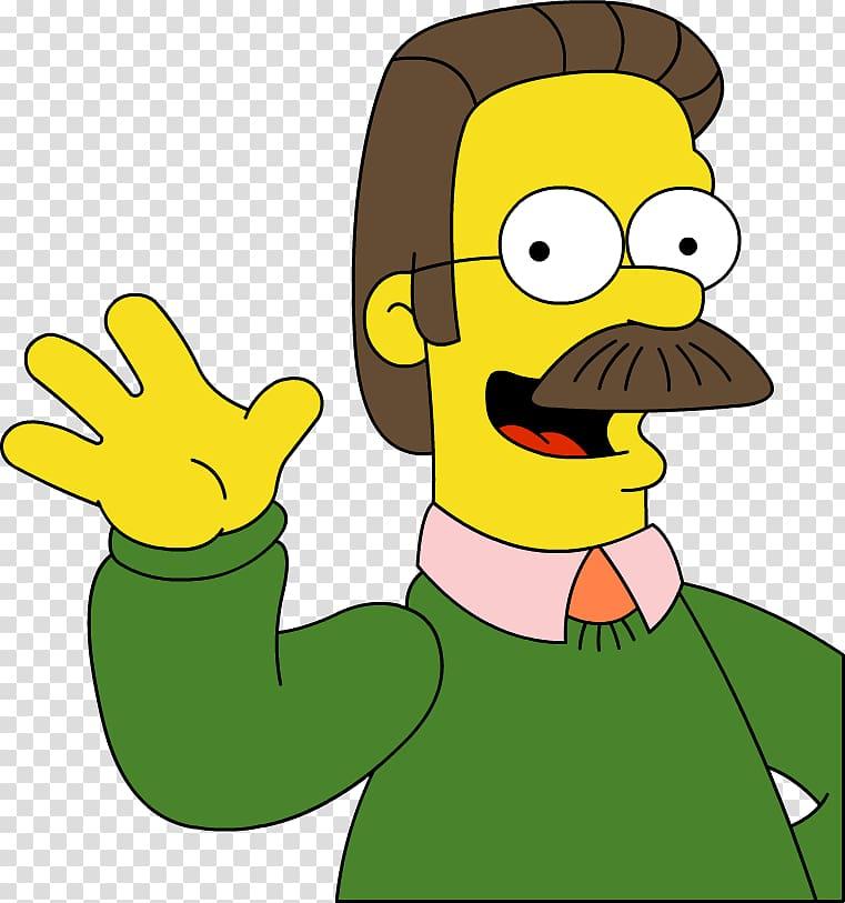 Ned Flanders Homer Simpson Bart Simpson Marge Simpson Lisa.