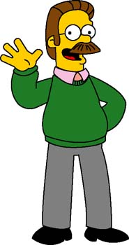 Ned Flanders 1 Clipart Graphic.