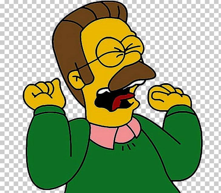 Ned Flanders Homer Simpson Bart Simpson Marge Simpson.