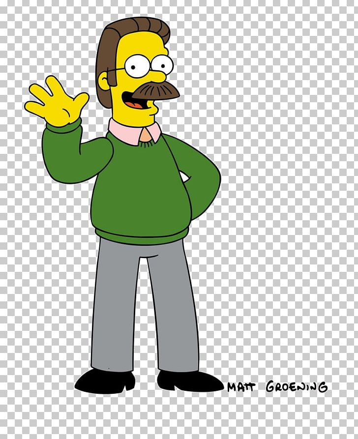 Ned Flanders Cartoon Character Moustache PNG, Clipart, Art.