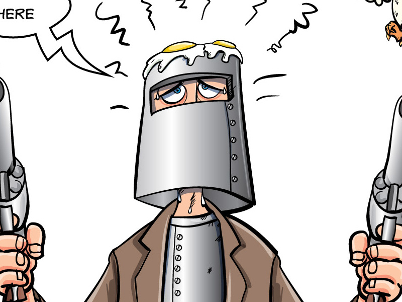 Ned Kelly cartoon illustration by Anton Brand on Dribbble.