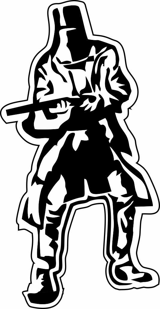 Ned Kelly Bumper Sticker Decal.