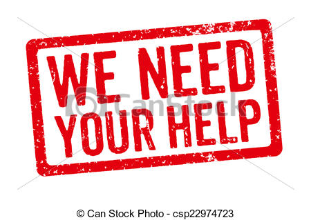We Need Your Help Clipart.