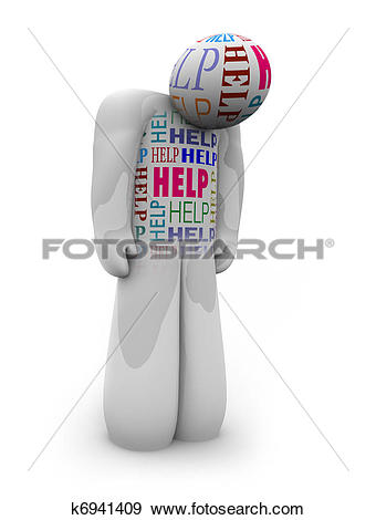 Stock Illustration of Help.