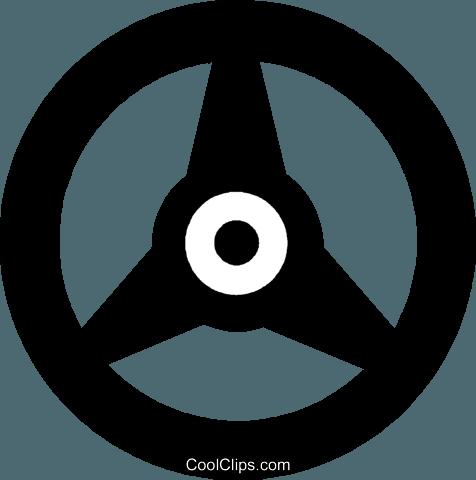 steering wheel Royalty Free Vector Clip Art illustration.