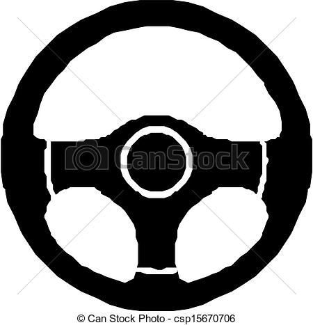Vector Clipart of Steering wheel, icon.