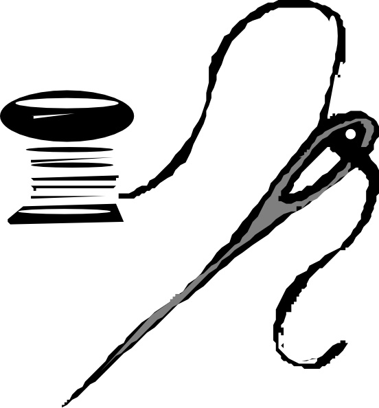 Thread And Needle clip art Free vector in Open office.