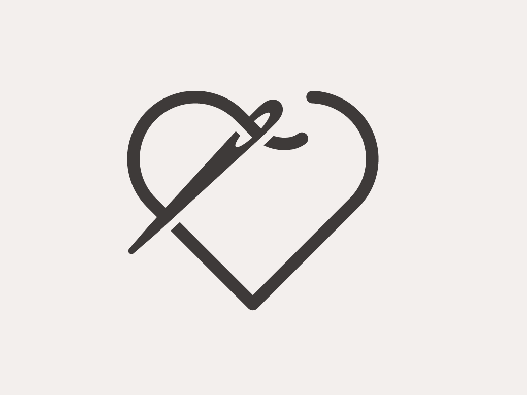Needle And Heart Thread Logo Concepts by Leisha Scallan on.