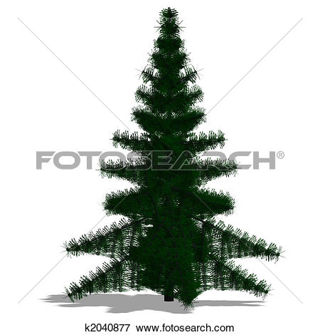 Stock Illustration of 3D Render of a needle beam Tree k2040877.