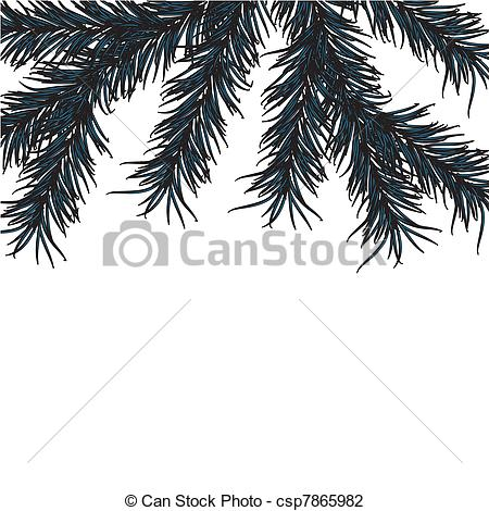 Vector Illustration of New Year's pine tree on a white background.