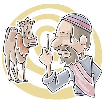 Christian clipArts.net _ Can a camel go through a needle's eye?.