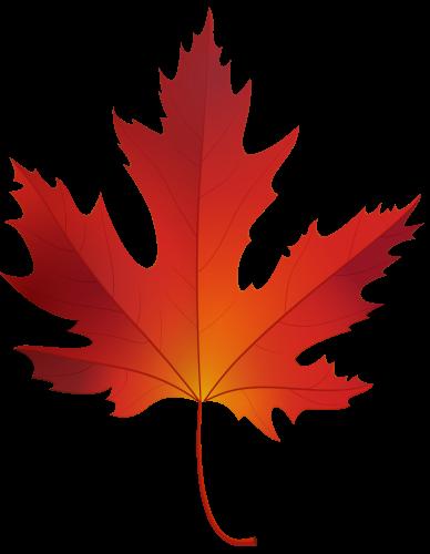 Autumn Maple Leaf PNG Clip Art.
