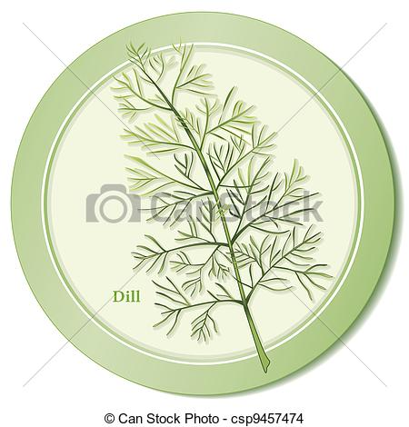 EPS Vector of Dill Herb Icon.