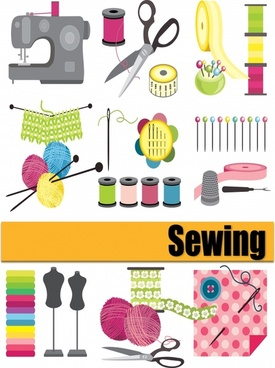 Sewing needlework vector free vector download (68 Free vector) for.