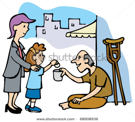 Helping The Poor And Needy Clipart.