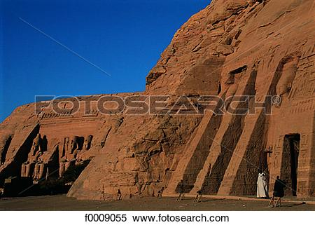 Stock Image of Egypt, Abu Simbel, temples of Ramses II and.