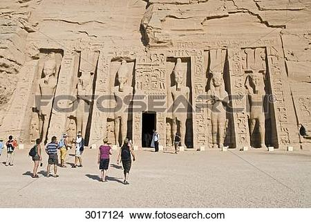 Stock Photo of Temple of Nefertari in Abu Simbel, Egypt 3017124.