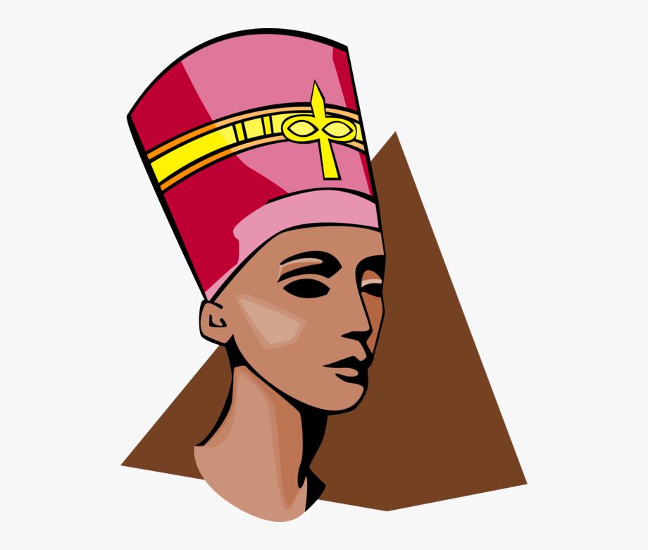 Vector Illustration Of Ancient Egypt Nefertiti Bust.