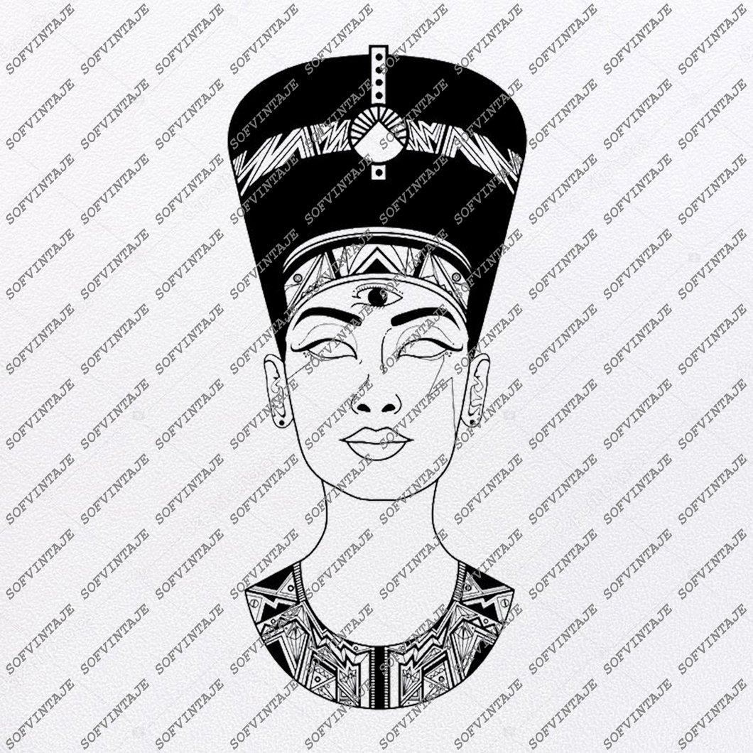 Nefertiti Svg File.