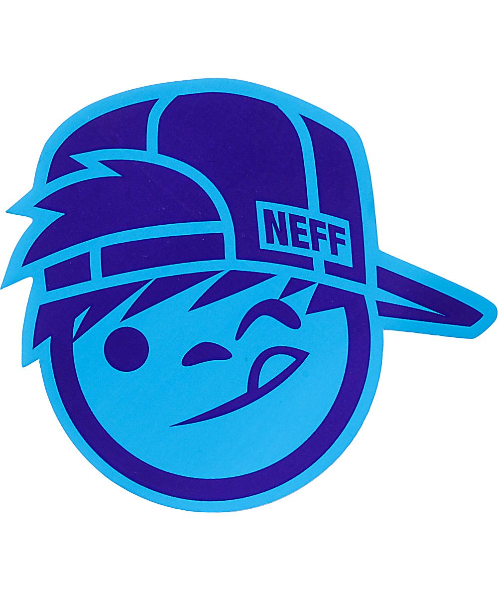Neff Suckerface Blue Sticker.