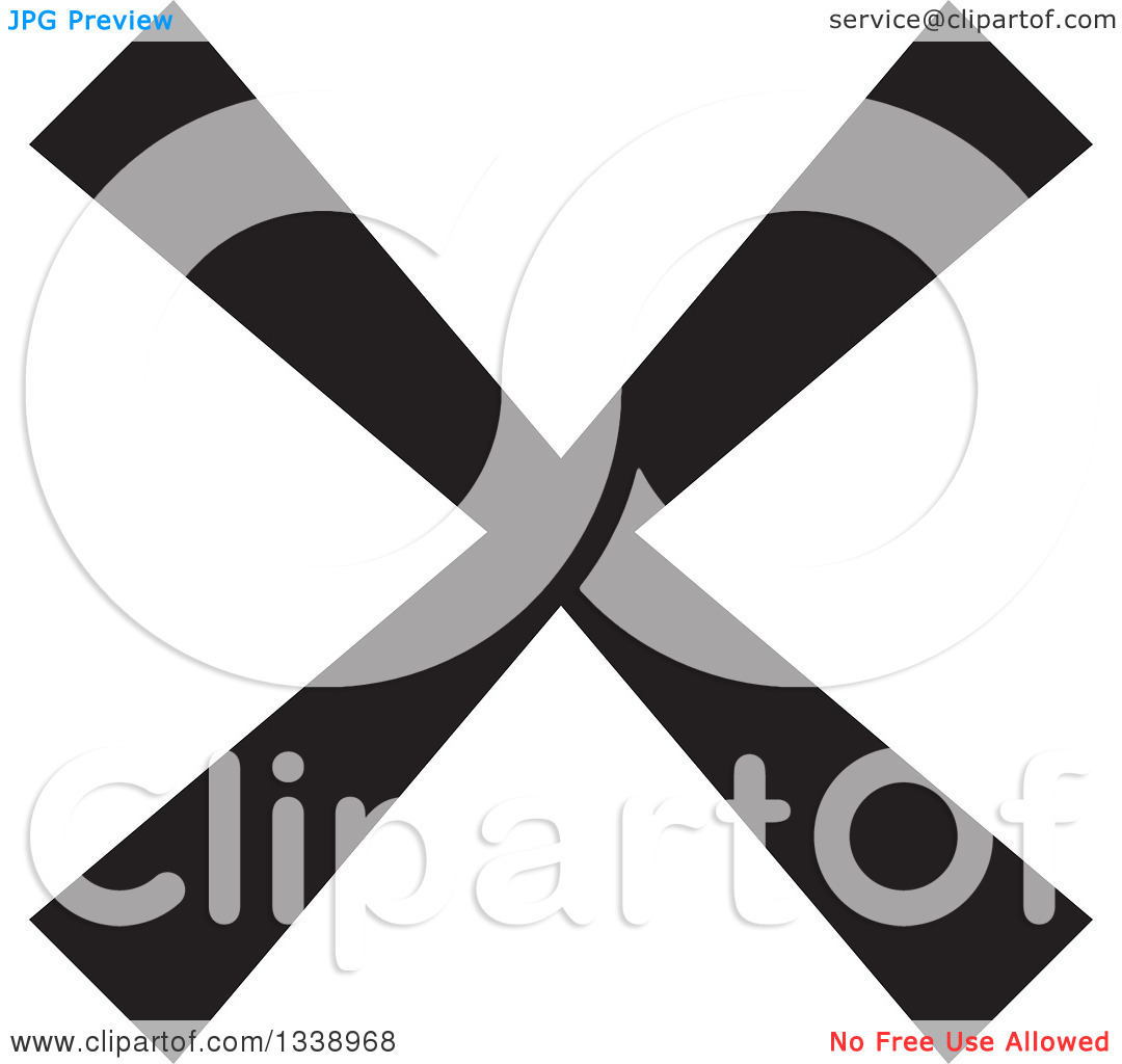 Clipart of a Black Negation X Mark App Icon Design Element 9.