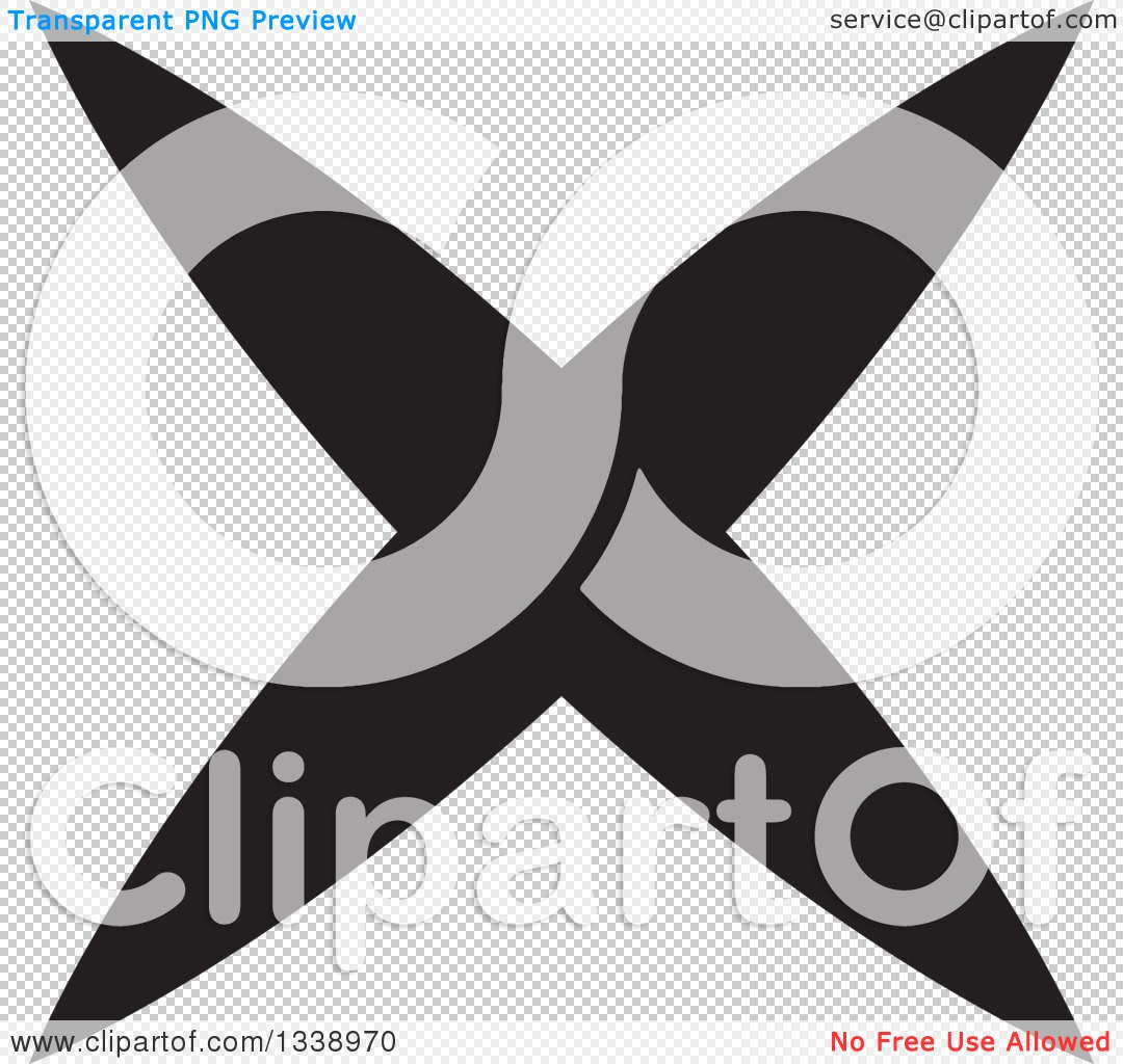 Clipart of a Black Negation X Mark App Icon Design Element 2.