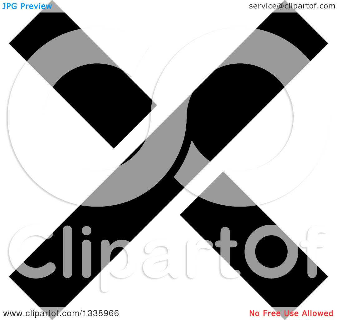 Clipart of a Black Negation X Mark App Icon Design Element 8.