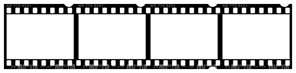 Blank Negative Film Strip.