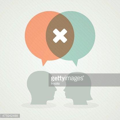 Dialog about negativity Clipart Image.