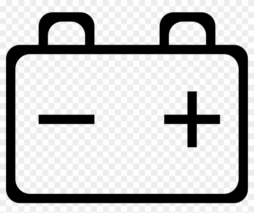 Battery With Positive And Negative Poles Svg Png Icon.
