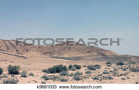 Stock Photo of Negev desert k9681033.
