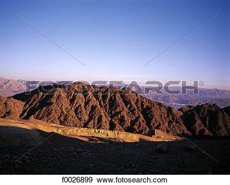 Stock Photograph of Israel, Eilat, Red Sea and Negev desert.