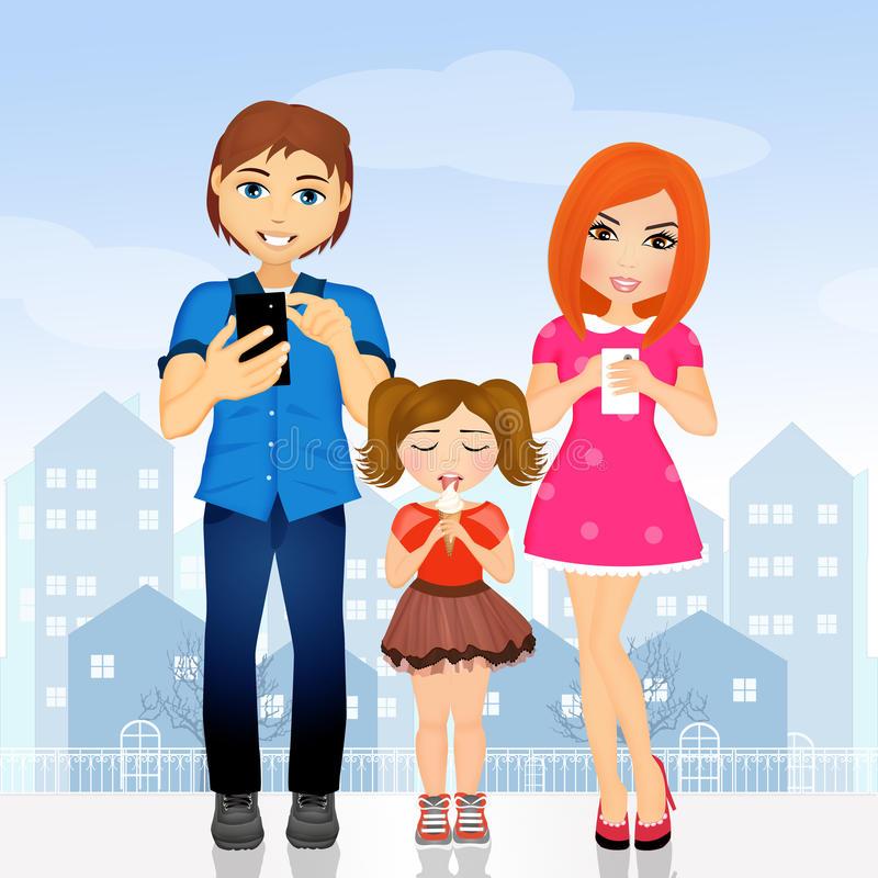 Parents Neglect Stock Illustrations.