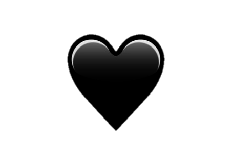 corazon heart black negro emoji tumblr love whatsapp.