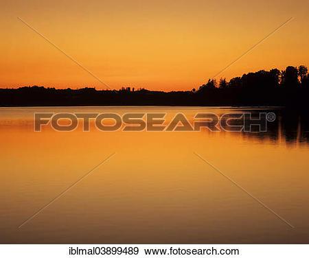 "Stock Photograph of ""Bucher Stausee reservoir, Ostalb, Swabian Alb."