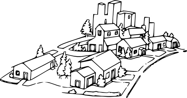 Neighborhood clip art Free vector in Open office drawing svg.