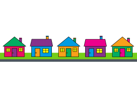 Neighborhood Houses Clipart.