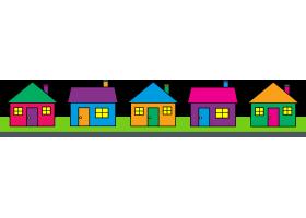 Neighborhood Houses Clipart.