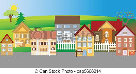 Neighborhood Illustrations and Clipart. 5,558 Neighborhood royalty.