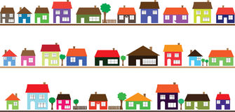 Clip art neighborhood homes.